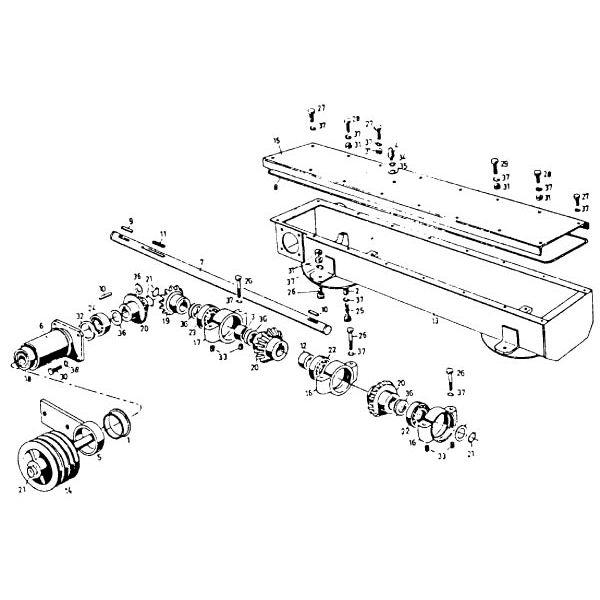 antrieb m hsystem bis 1970 passend f r deutz fahr km 20. Black Bedroom Furniture Sets. Home Design Ideas