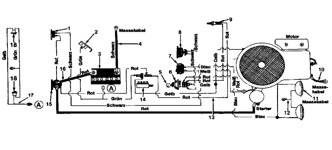 Schaltplan Rasentraktor Mtd