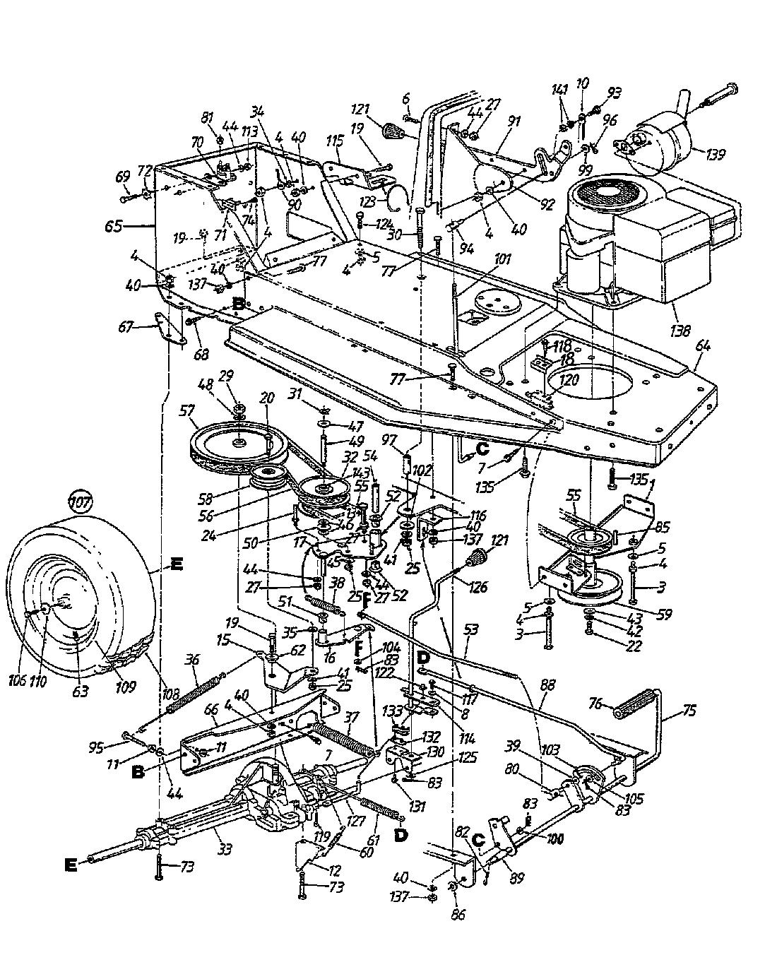 133B352D668 1993 Keilriemen für B 10 Mähwerk