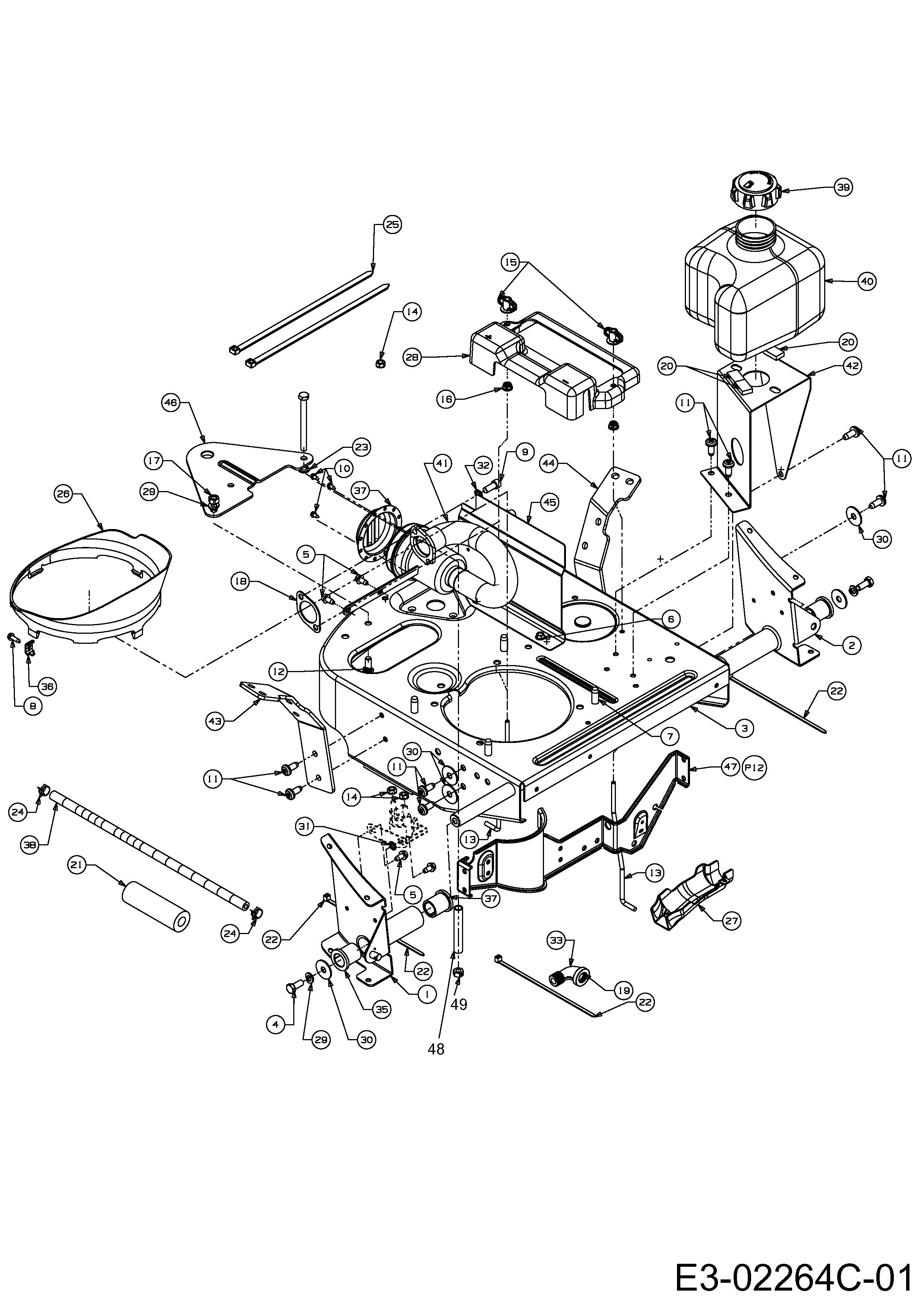 Anhangekupplung Rahmen Tank 13b 334 690 2012 Sc Edition Rasentraktoren Gutbrod