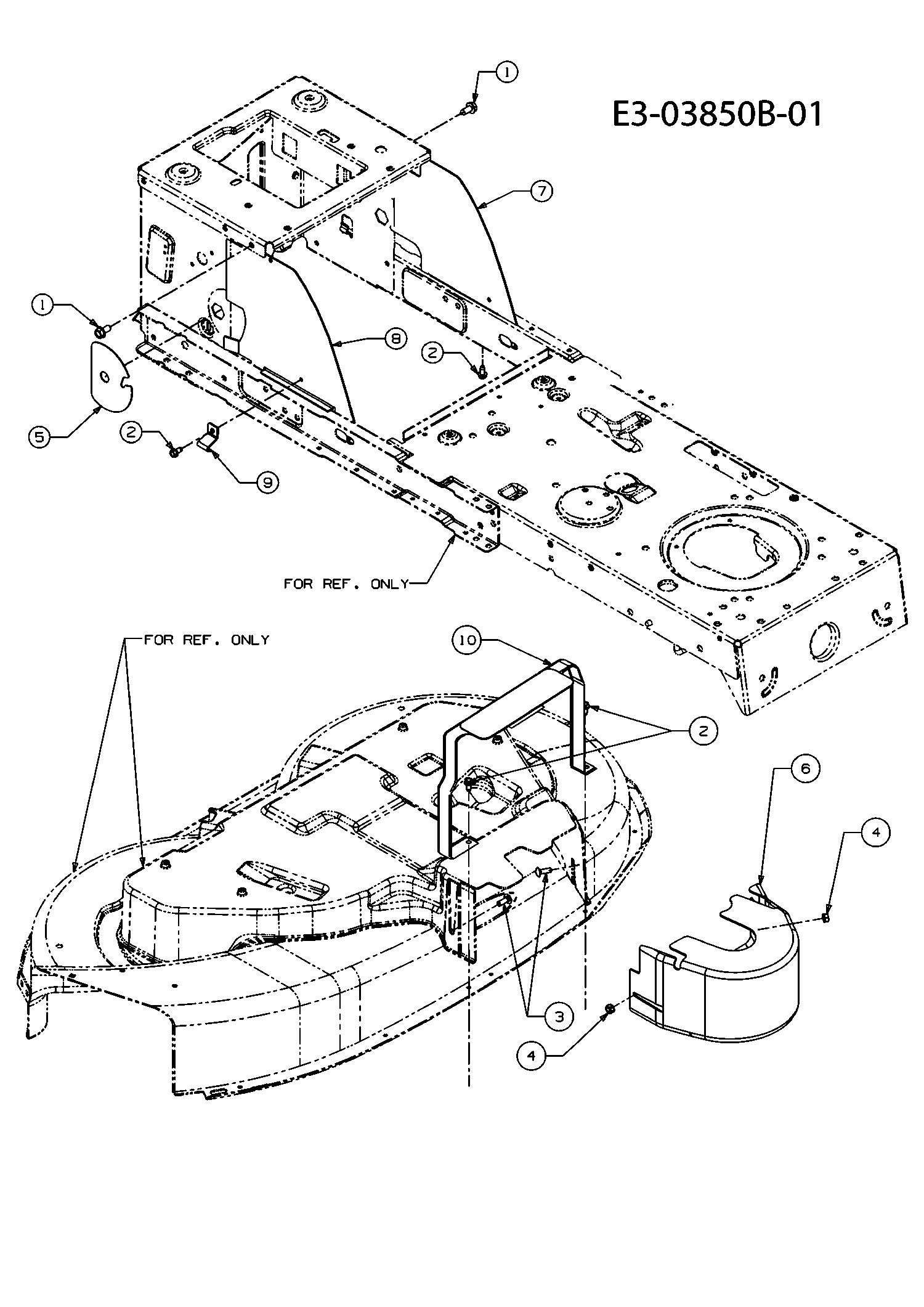 Abdeckungen Mähwerk F (38