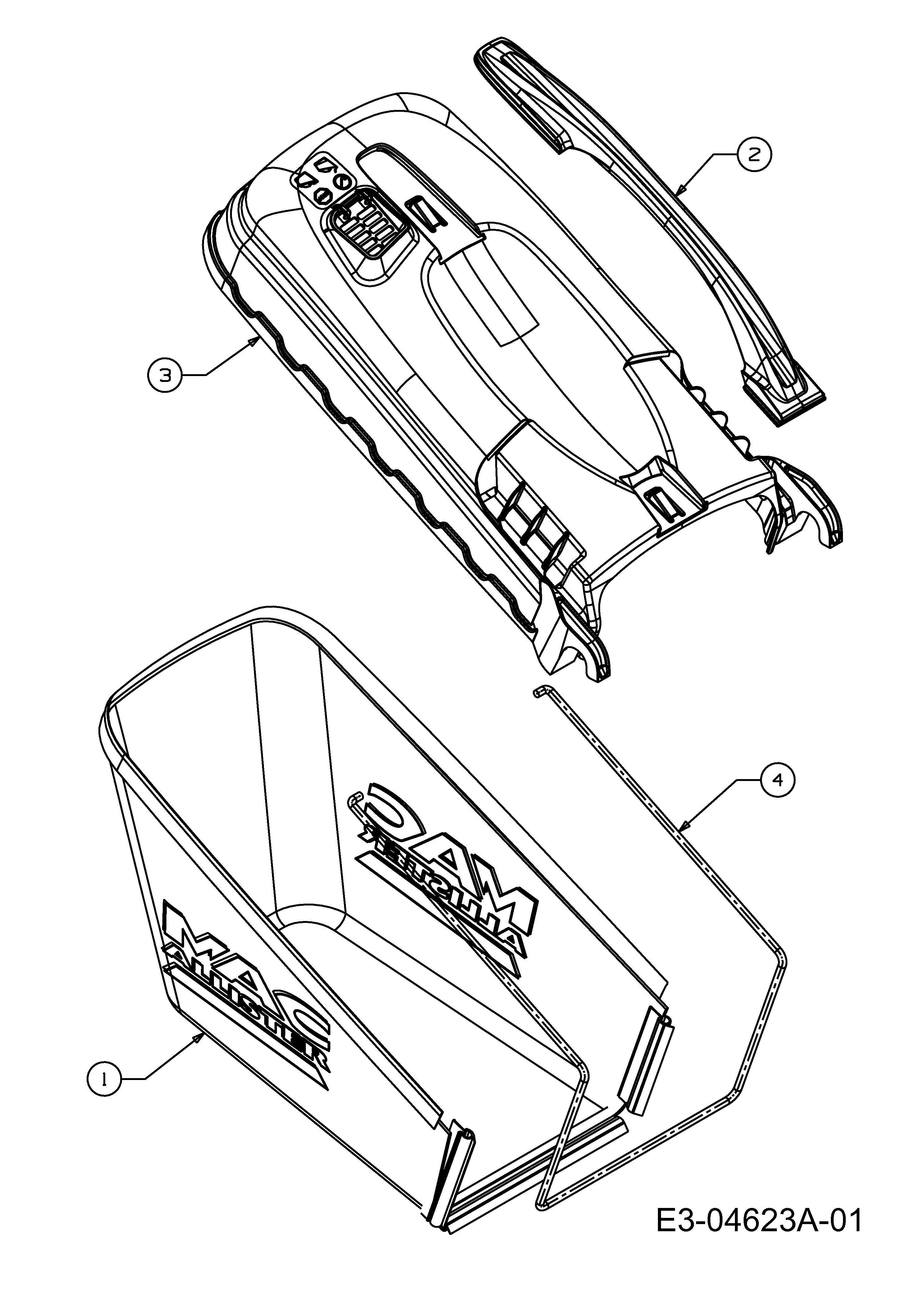 Grasfangsack, 12AI867D668 (2009), 6053 BHW, Motormäher mit