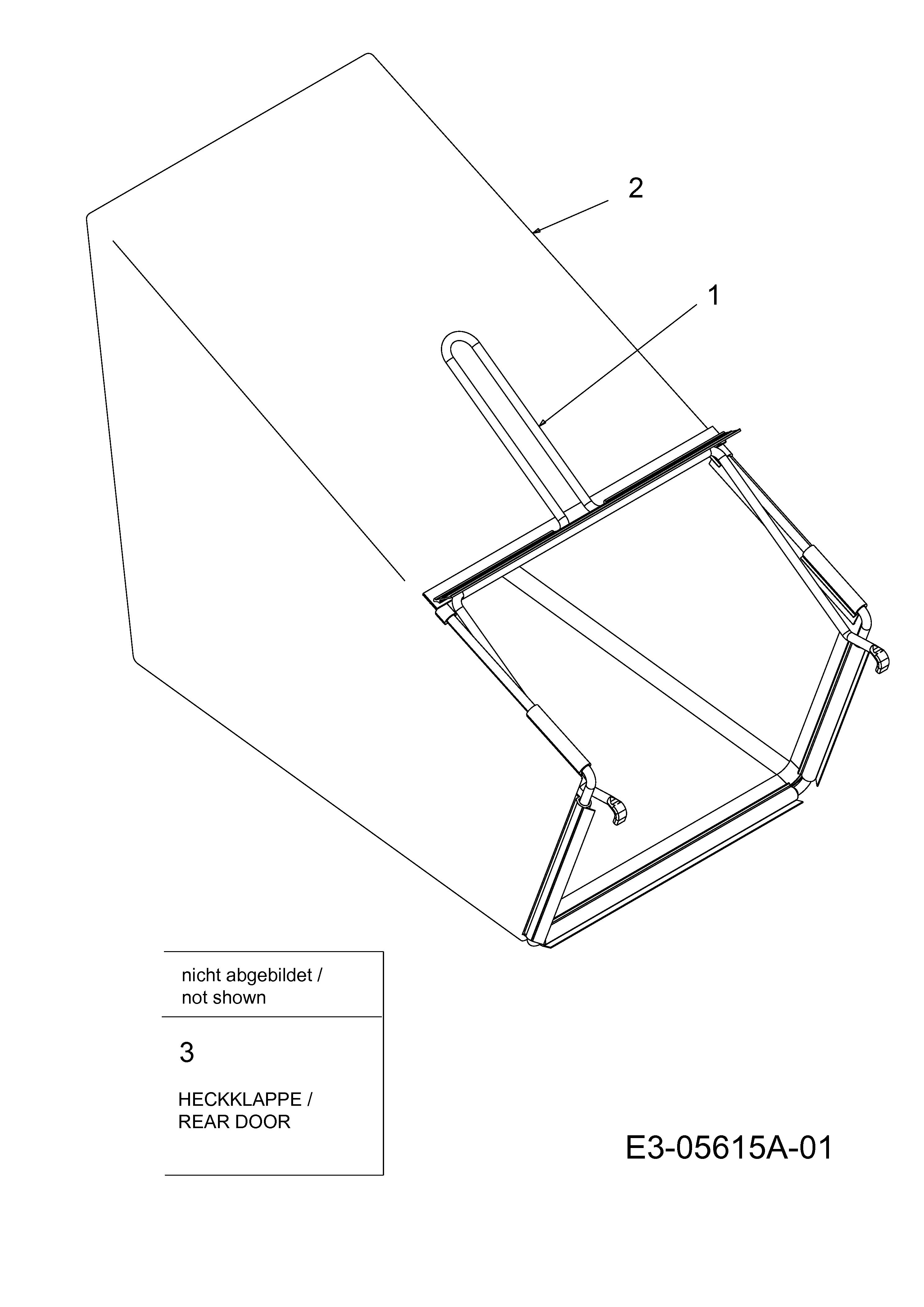 Grasfangsack, 12C-844H683 (2010), BL 5053, Motormäher mit
