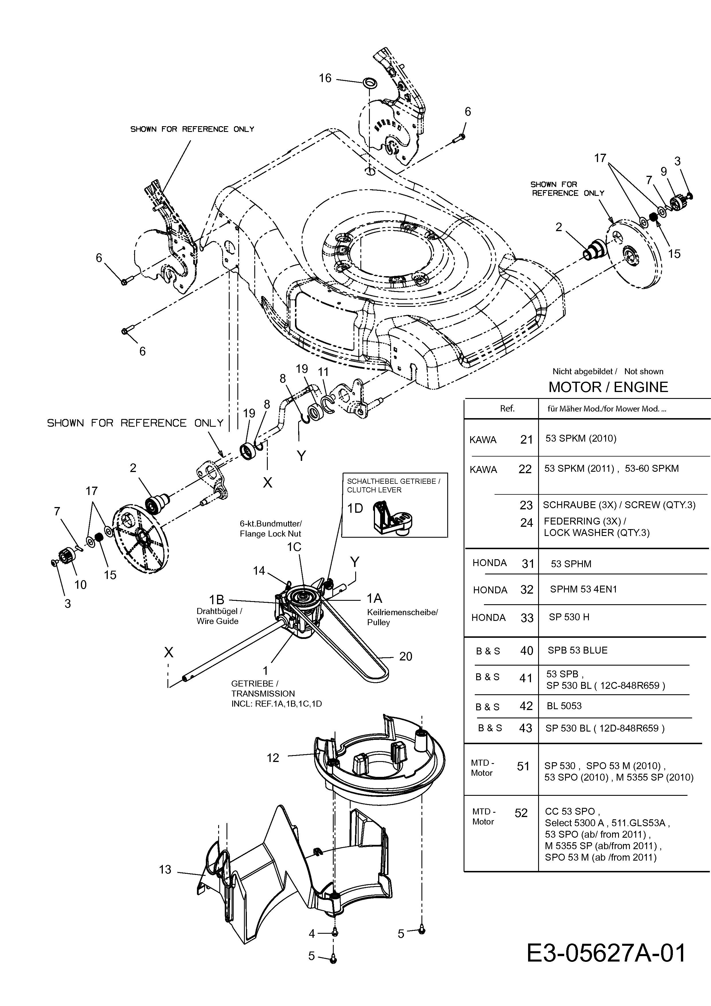 Getriebe, Motor, 12C-844H683 (2013), BL 5053, Motormäher