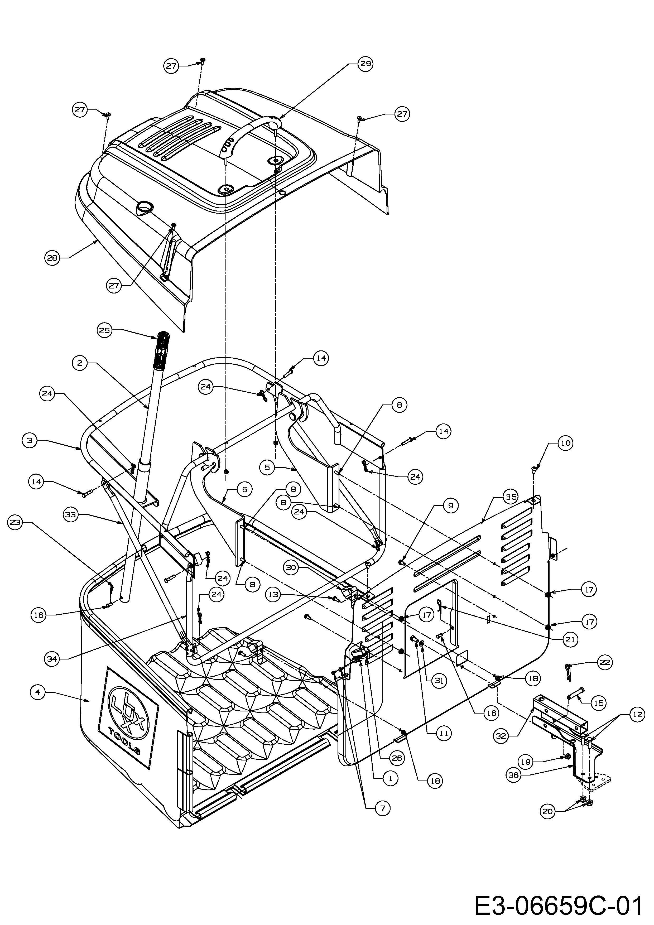 Grasfangvorrichtung, 13HM77TE694 (2014), RT 155-92 H